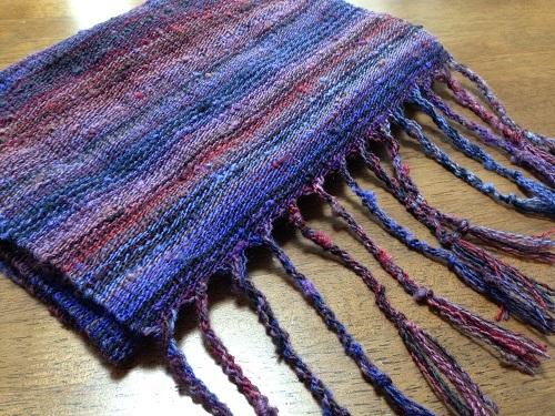 紫のストール