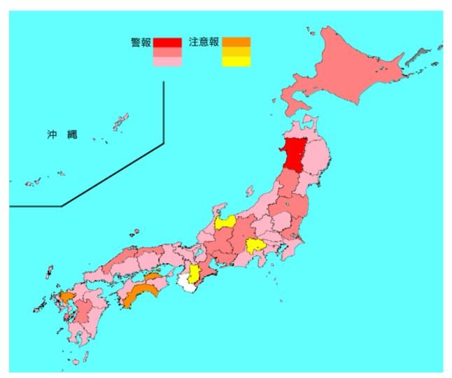 2020-01インフルエンザ流行マップ