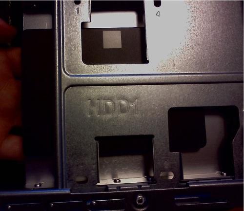 HDD1側のスロットにマウント