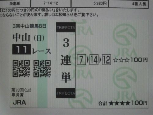 皐月賞(当たり馬券)