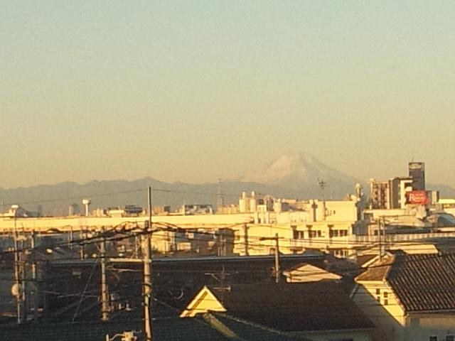 1月1日朝の富士山
