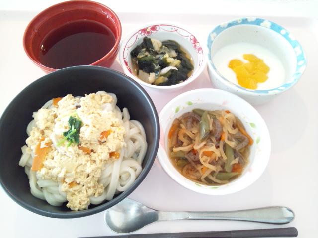 五目うどん→玉子とじうどん
