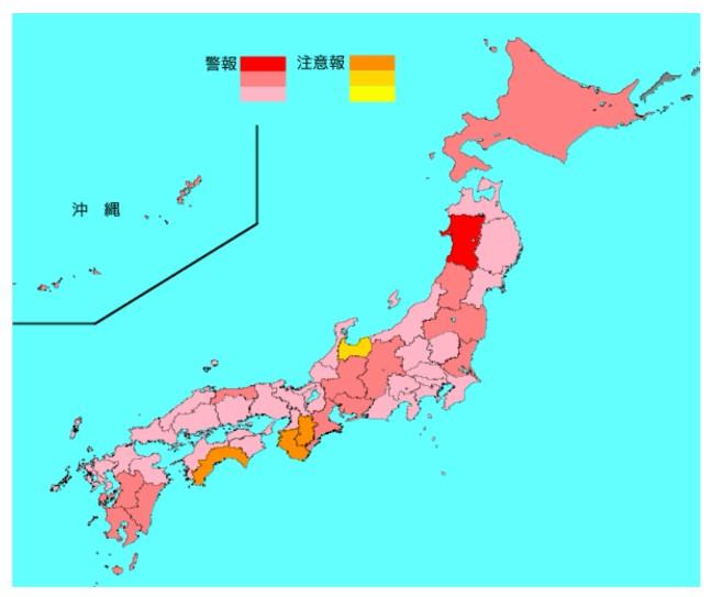 2020-02インフルエンザ流行マップ