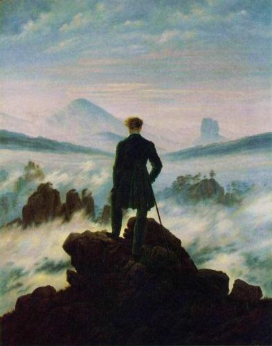 フリードリヒ《霧の海を眺めるさすらい人》1818年