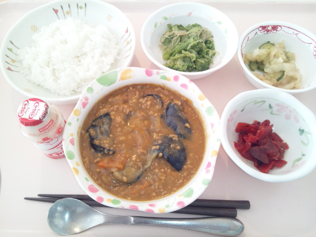 茄子とひき肉のカレーライス