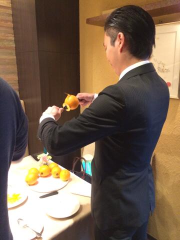 オレンジのデクパージュ