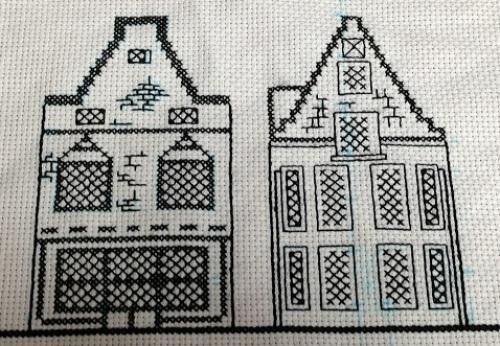 ブラックワーク オランダの古い家