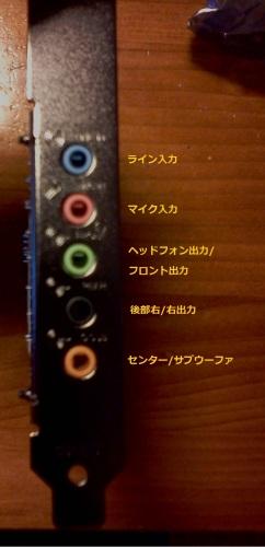 SoundBlaster Audigy Fx接続端子