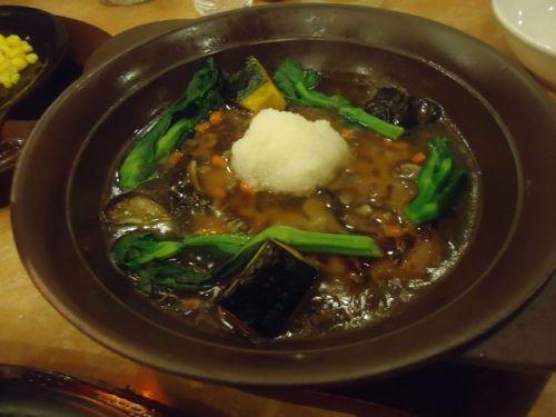 ガスト11(たっぷり野菜のあんかけハンバーグ 和風鍋仕立て).JPG