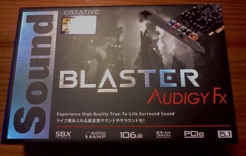 SoundBlaster Audigy Fx外箱