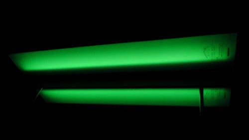 蛍光灯の残光化