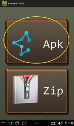 Apkボタンをタップ