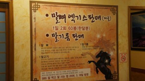 韓国旅行 済州島 馬肉