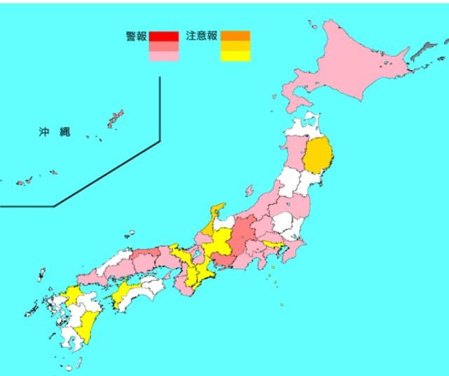 2020-07インフルエンザ流行マップ