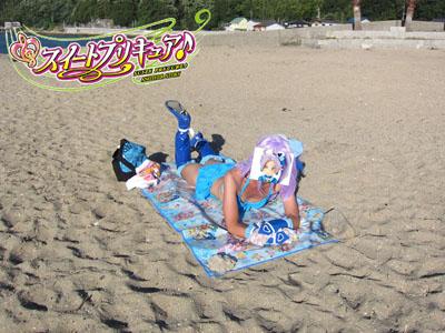夏のビーチでリフレッシュ