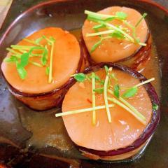 ふろふき大根の中華風 油茄子巻き