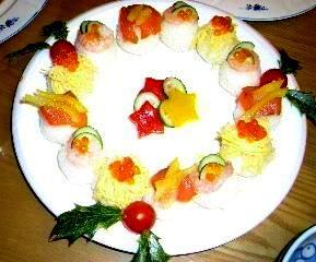 手毬寿司クリスマスバージョン