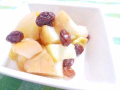 砂糖なしでも美味しい♡りんごとレーズン蒸し煮