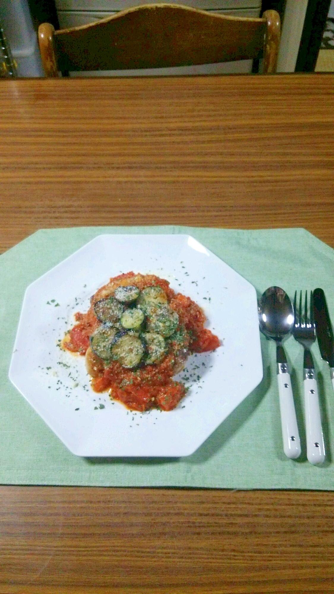 ヨウサマのタニタ式ダイエット食チキントマトソース風
