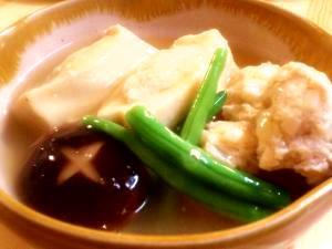 副菜をメインに☆高野豆腐のひき肉詰め煮♪