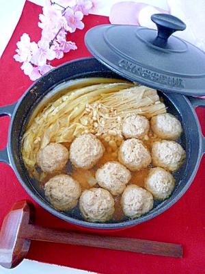 旨い塩麹スープ!まぐろはんぺんの★ふわふわ団子鍋