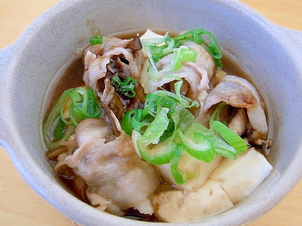 豆腐と舞茸の豚バラ蒸し煮