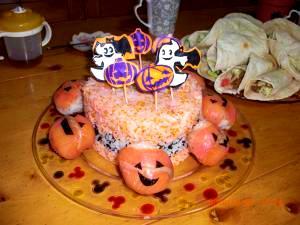 ハロウィンパーティに!和風寿司ケーキ