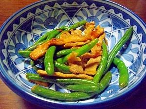 豚肉といんげんの炒め物