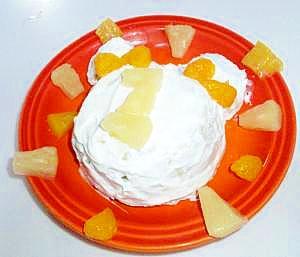1歳の誕生日に☆レンジで簡単ヨーグルトバナナケーキ