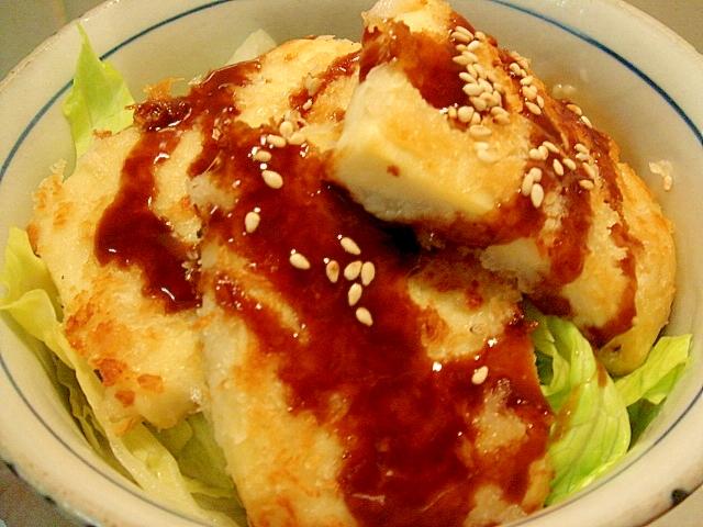 高野豆腐ソースかつ丼でキャベツダイエット
