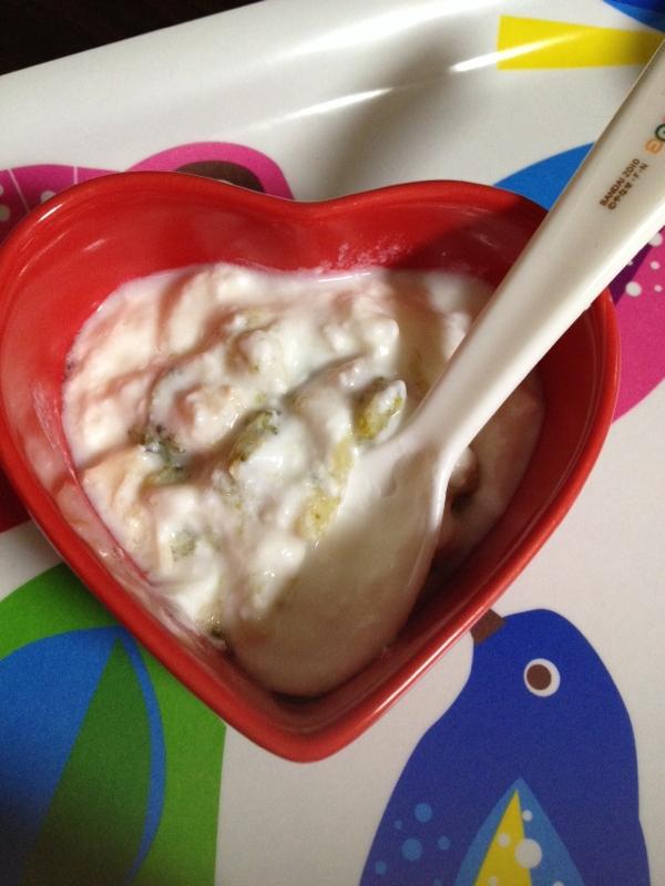 離乳食☆白菜とブロッコリーとみかんのサラダ