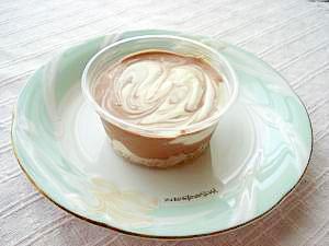 豆腐のマーブルレアチーズケーキ
