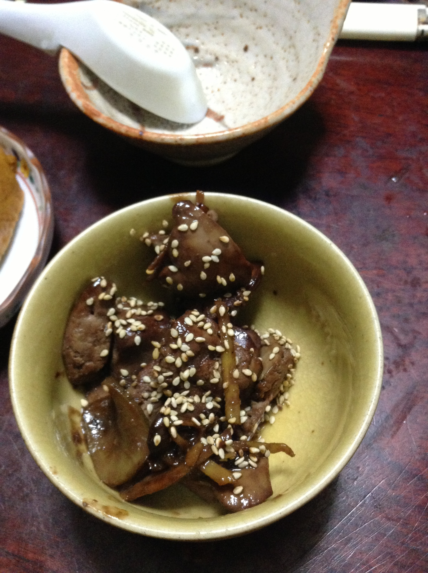 菊芋と鶏レバーの甘辛煮