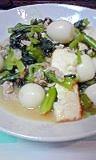 簡単!厚揚げと緑の野菜で中華炒め♪