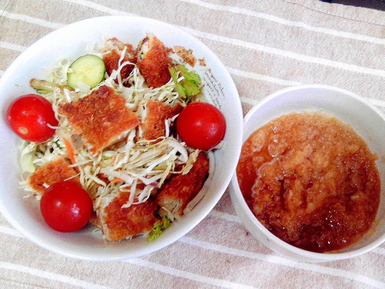 アジフライの野菜サラダ♪おろしポン酢和え