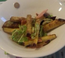 ちょこっと副菜☆さつまいもとキャベツの炒め物
