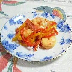 海老と松の実の炒め物~