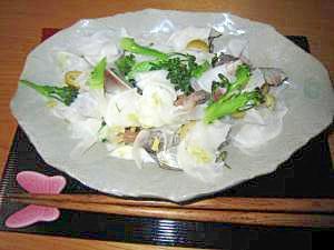 しめ鯖オリーブ蕪サラダ