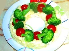 クリスマスのリースサラダ!ポテトとブロッコリーで♪