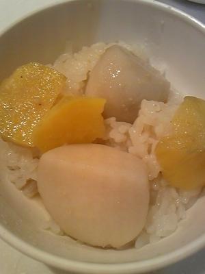 さつま芋と里芋のおこわ風ご飯♪