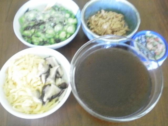 干し椎茸の戻し汁で作る素麺つゆ