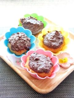 糖質オフ☆ジンジャーチョコのピーナッツカップケーキ