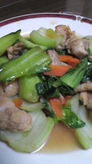 郷土料理にチャレンジ♪鶏肉&チンゲン菜の治部煮
