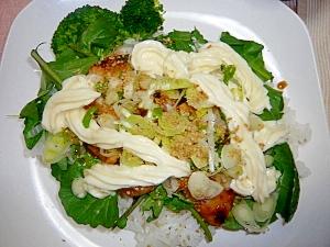 野菜たっぷり☆鶏の照り焼き丼!