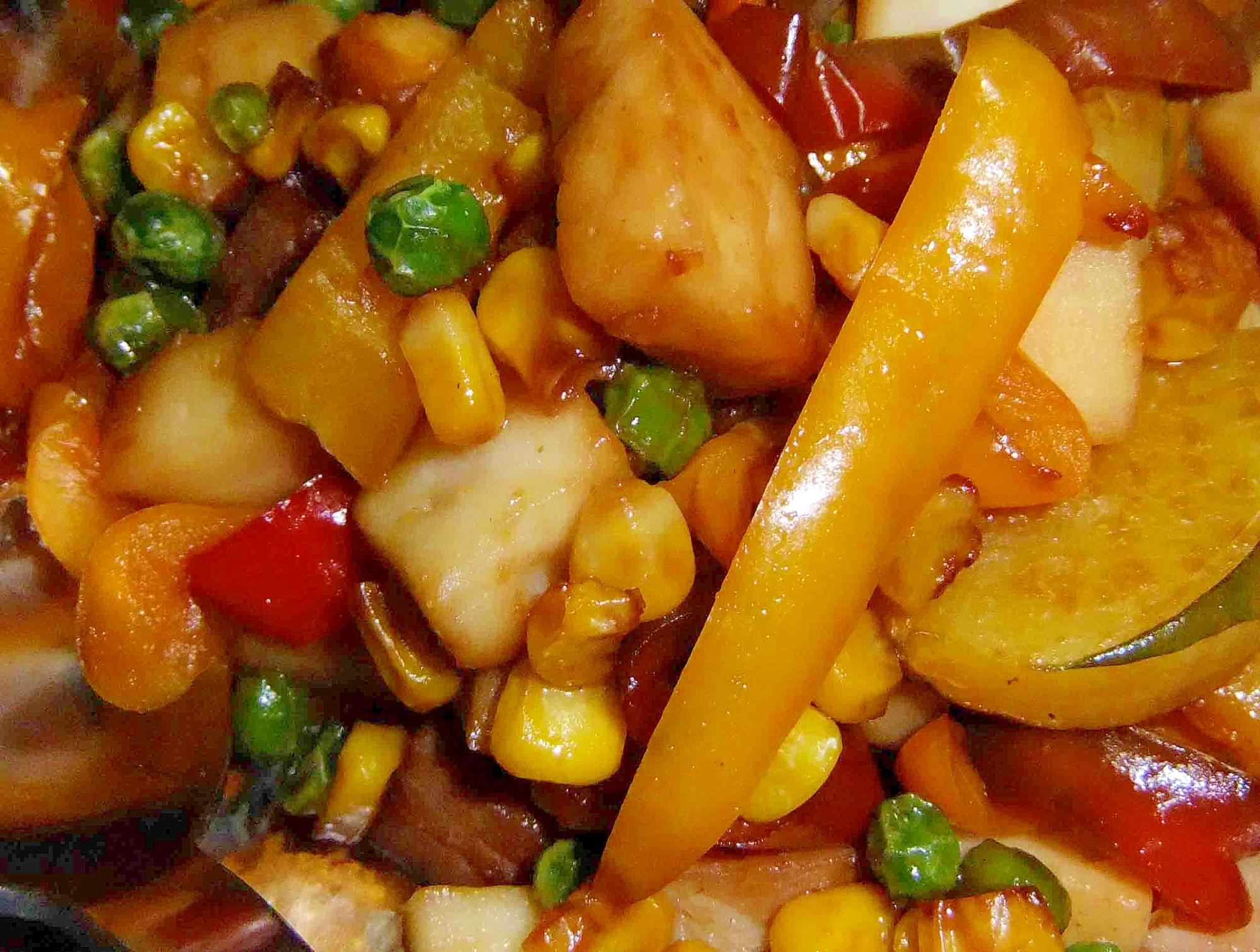 はんぺんと夏野菜のソテー