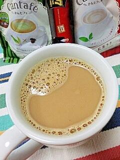 ホッと☆抹茶ミルク風味のきなこカフェオレ♪
