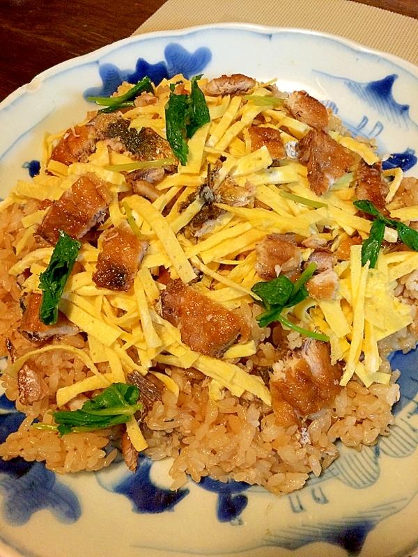 4. いわしの蒲焼きで混ぜご飯