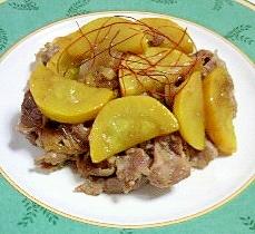 豚ロースと黄色いズッキーニの炒め物