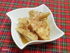 竹の子と焼きちくわの煮物