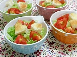 カワイイトースト入り♪レタスのサラダ